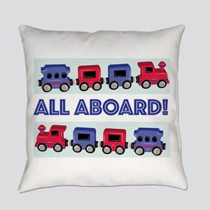 All Aboard Everyday Pillow