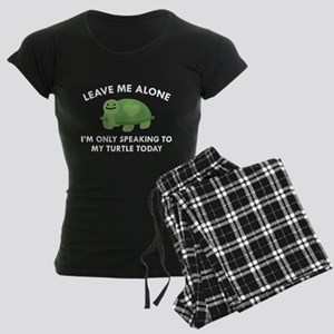 Only Speaking To My Turtle Women's Dark Pajamas