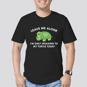 Only Speaking To My Turtle Men's Fitted T-Shirt (d
