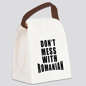 Don't Mess With Romania Canvas Lunch Bag