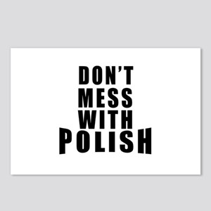 Don't Mess With Poland Postcards (Package of 8)
