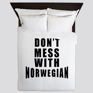 Don't Mess With Norway Queen Duvet