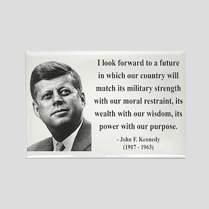 John F. Kennedy 13 Rectangle Magnet