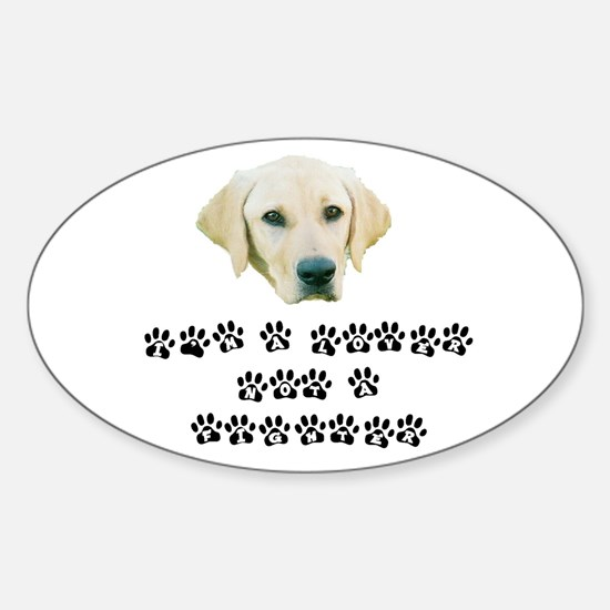 LNF Jack Paws Oval Decal