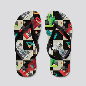 Cartoon Racecars Flip Flops
