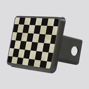Checkered Flag Rectangular Hitch Cover