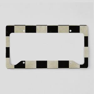 Checkered Flag License Plate Holder