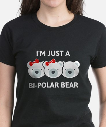 Bi-Polar Bear Women's Dark T-Shirt