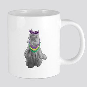 Mardi Gras Cat Mugs