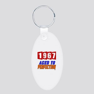 1967 Aged To Perfection Aluminum Oval Keychain
