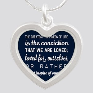 Gift for Him Love Poem Silver Heart Necklace