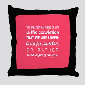 love quotes and sayings for her roman Throw Pillow
