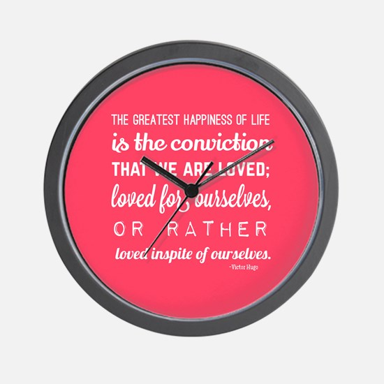 love quotes and sayings for her romanti Wall Clock