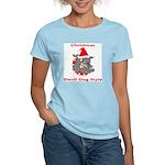 Christmas Devil Dog Style Women's Light T-Shirt