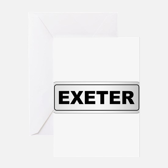 Exeter City Nameplate Greeting Cards