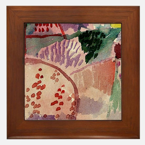 Abstract watercolor Framed Tile
