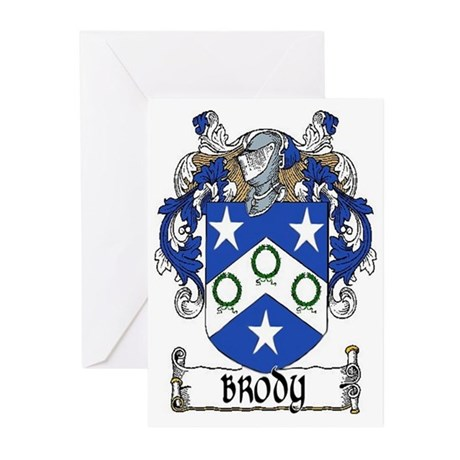 Brody Coat of Arms Greeting Cards (Pk of 20)