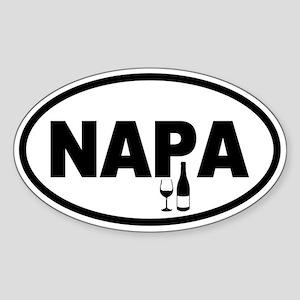 Napa Valley Oval Sticker