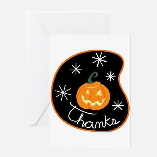 Jack-O-Lantern Thanks! Greeting Card