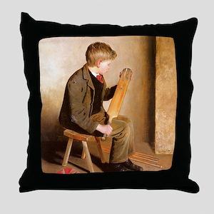 Vintage Cricket Throw Pillow