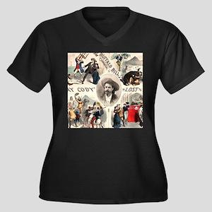 Vintage Western Buffalo Bill Plus Size T-Shirt