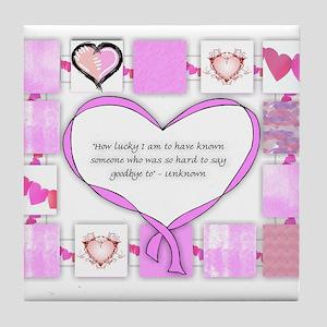 How Lucky Friendship Tile Coaster