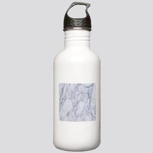 White and Gray Marble Stainless Water Bottle 1.0L