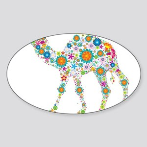 Colorful Retro Floral Camel Sticker