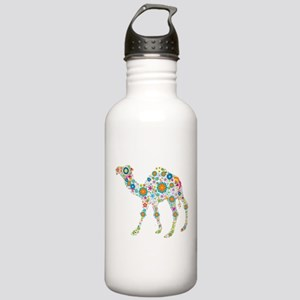 Colorful Retro Floral Stainless Water Bottle 1.0L