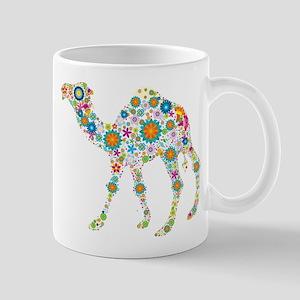 Colorful Retro Floral Camel Mugs