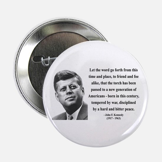 "John F. Kennedy 15 2.25"" Button"