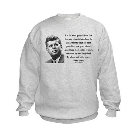 John F. Kennedy 15 Kids Sweatshirt