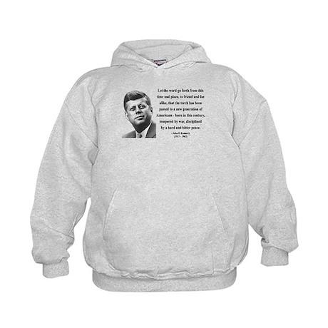 John F. Kennedy 15 Kids Hoodie
