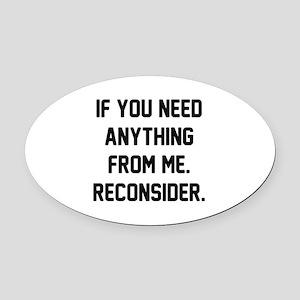 Reconsider Oval Car Magnet