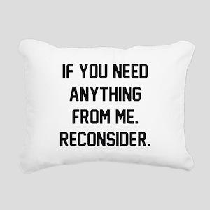 Reconsider Rectangular Canvas Pillow