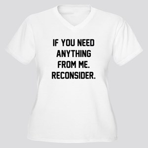 Reconsider Women's Plus Size V-Neck T-Shirt