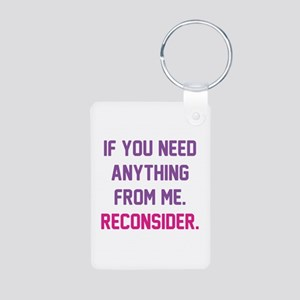 Reconsider Aluminum Photo Keychain