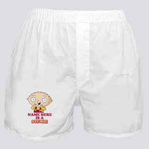 Family Guy Stewie Personalized Boxer Shorts