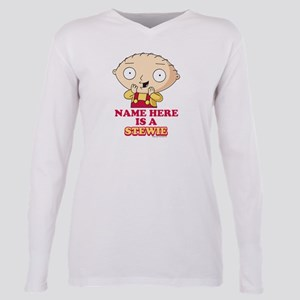 Family Guy Stewie Person Plus Size Long Sleeve Tee