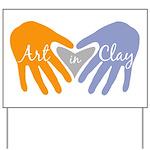 Art in Clay / Heart / Hands Yard Sign