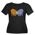 Art in Clay / Heart / Hands Women's Plus Size Scoo