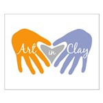 Art in Clay / Heart / Hands Small Poster