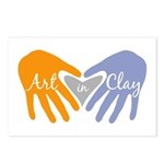 Art in Clay / Heart / Hands Postcards (Package of