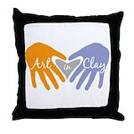 Art in Clay / Heart / Hands Throw Pillow