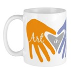 Art in Clay / Heart / Hands Mug