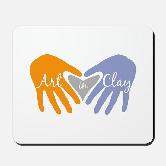 Art in Clay / Heart / Hands Mousepad