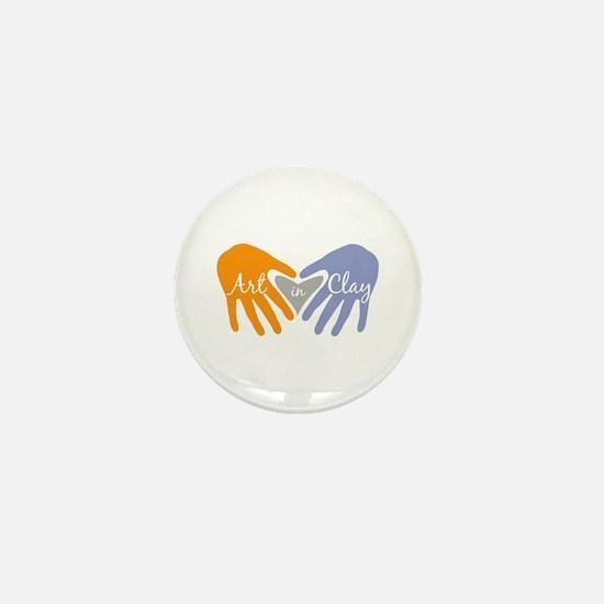 Art in Clay / Heart / Hands Mini Button