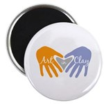 """Art in Clay / Heart / Hands 2.25"""" Magnet (100 pack"""
