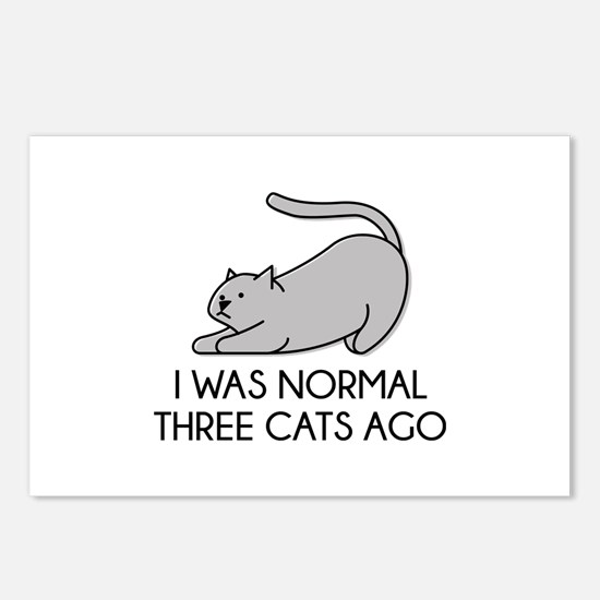 I Was Normal Three Cats Ago Postcards (Package of