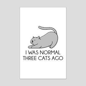I Was Normal Three Cats Ago Mini Poster Print